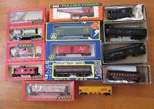 BOX LOT (14) HO Freight Cars -  Athearn AHM Tyco - NYC PRR WM UP CNJ NYSW Plus