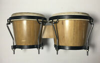 """CP LP Traditional Wood Bongos, Percussive Musical Instrument, 7"""" and 6"""" drums."""