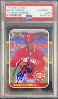 Barry Larkin auto card 1986 Donruss #492 MLB Cincinnati Reds PSA Encapsulated