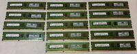 14x Samsung PC3-10600E 2GB 2Rx8 DDR3 Server Memory M391B5673EH1-CH9 Used