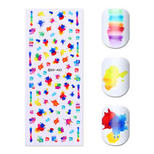 Water Decal Transfer Sticker Colorful Ink Painting Nail Art Sticker Decals DIY