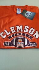 CLEMSON FOOTBALL COLLECTOR SHIRT/2014 ORANGE BOWL TEE BY RUSSELL ATHLETIC/NEW W/