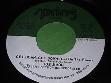 Joe Simon: Get Down, Get Down, (Get On The Floor) / In My Baby's Arms 45 - Soul