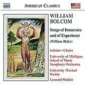 William Bolcom: Songs of Innocence and of Experience,  CD   0636943921623   New
