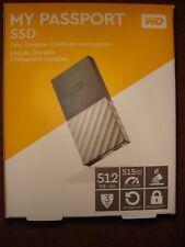 WD 512GB My Passport SSD Portable Storage - USB 3.1 - Black/Gray - BRAND NEW!!!