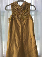 Vintage 1960's Mod Mini Go-go Dress Gold