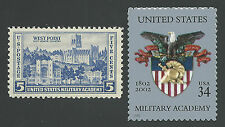 WEST POINT United States Military Academy 1937 & 2002 Stamps Set MINT CONDITION!