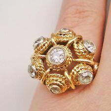 Stunning Vintage Modernist 18ct Gold Diamond (1.48ct) Ring; UK Ring Size 'L'