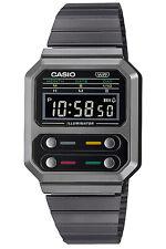 CASIO Vintage Edgy Armbanduhr Schwarz A100WEGG-1AEF