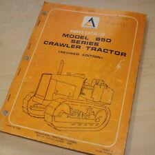 ALLIS CHALMERS 650 SERIES CRAWLER TRACTOR DOZER Parts Manual book catalog list