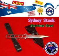 Bowie Diving,Snorkelling Spearfishing Knife with Straps & Sheath - NEW