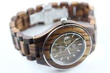 Reloj de madera Bewell hombre fecha Xl46mm Arce cierre mariposa producto a