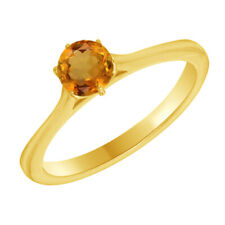 Engagement Ring in 14k Yellow Gold Over 0.50 Ct Round Cut Vvs1 6-Prong Solitaire