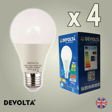 4 X 10W GLS LED Light Bulb Cool White E27 Edison Screw Equal 100W Very Bright