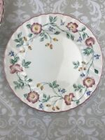 "Churchill Briar Rose Dinner Plate Floral China Staffordshire 10"" Set of 3"
