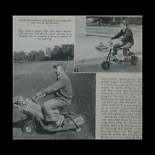 Hunting Motor Scooter 1962 How-To build Plans Tote-All / Golf Cart
