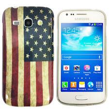 Hülle f Samsung Galaxy Ace 3 S7275 S7270 Schutz Case Tasche TPU USA Flagge