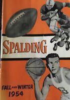 1954 Spalding Fall Winter Sports Sporting Goods Catalog Football Basketball EXNM