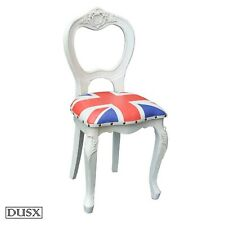 Vintage Retro Union Jack Boys Room White Wooden Dining Chair