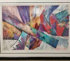 """""""Blossom"""" Artist Smadar Livne Signed #233/250 Abstract Print 54""""x32"""""""