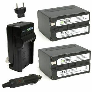 Wasabi Power Battery (2-Pack) & Charger NP-F950, F960, F970, F975 L Series