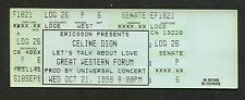 1998 Celine Dion Unused Full Concert Ticket Forum LA These Are Special Times