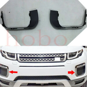 2x Left+Right Black Fog Lamp Cover Frame For Land Rover Range Rover Evoque 16-18