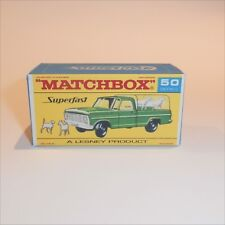Matchbox Lesney Superfast 50 c Ford Kennel Truck empty Repro F-SF1 style Box