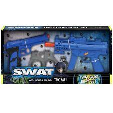Toy Gun Set Light & Sound Police Swat Machine Gun Pistol Kids Detective Gift Toy
