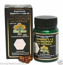 4 Bottles of Brazil Wax Green Bee Propolis 500mg, 60 capsules