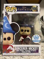 Mint! Sorcerer Mickey Mouse Fantasia Funko Shop Exclusive Funko Pop In Hand
