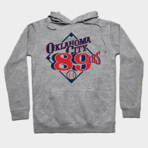 Oklahoma City 89ers hoodie hooded sweatshirt baseball Dodgers Triple-A RedHawks