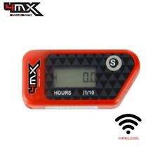 4MX Red Wireless Motorcycle Engine Vibration Hour Meter to fit Husaberg FE400