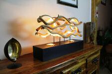 62cm XL Treibholz Tischlampe Altholz Tischleuchte Holz Lampe Stehlampe Landhaus