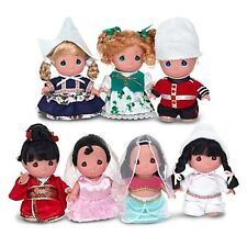 "Disney Parks Precious Moments It's a SMALL WORLD 50th 7 Mini 5"" Doll Set"