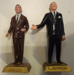 "2 figures 1-rare 36th PRESIDENT JOHNSON  Vintage 1960s Marx 2.5"" Figure"