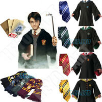 Harry Potter Gryffindor Ravenclaw Slytherin Robe Tie Scarf Wand Costume