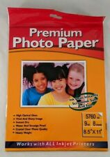 """Premium Photo Paper High Optical Gloss 8 Sheets 8.5"""" x 11"""" For Photo Projects"""