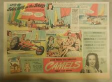 Camel Cigarette Ad: Sand Sailing Daytona Beach Florida Half or Tabloid Page
