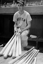 "Ted Williams - 8"" x 10"" Photo - 1940 - Boston Red Sox - Fenway Park"