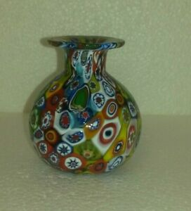 Mini Millefiori Glass Vase