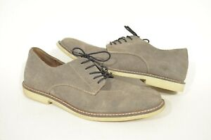 Banana Republic 12 Gray Suede Leather Lace Up Nubuck Oxford Dress Shoes
