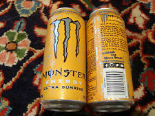 1 FULL Energy Drink Can Usa  = Monster Ultra Sunrise =