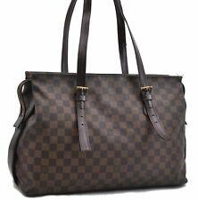 Auth Louis Vuitton Damier Chelsea Shoulder Bag N51119 LV A5136