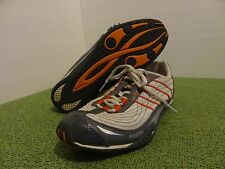 K Swiss womens 7.5 Gray Silver White Orange Mesh Athletic Running Tennis Shoes