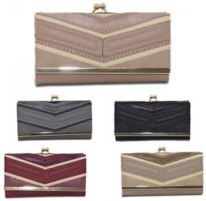 Ladies Boxed Fashion Long Wallet Purse Card Phone Holder Clutch Handbag Case 117