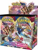 Pokemon Sword and Shield Booster Box, 36 packs per box, Sealed
