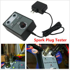 Car Spark Plug Tester Analyze Adjustable Dual Hole Ignition Detector w/ Adapter