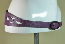 Diesel hippie boho purple meshcut leather fashion belt W80 M RRP €80.00 R14572A