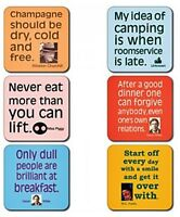 Funny Quotations boxed drinks mats / coaster set of 6 (cw)
